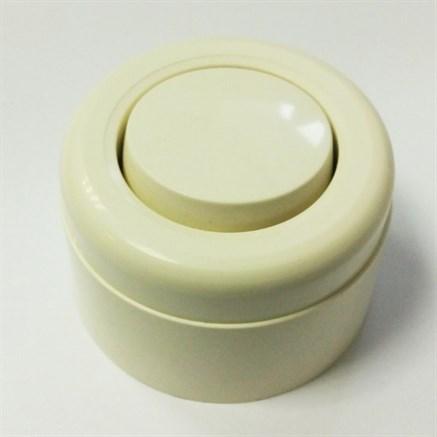 Выключатель ретро пластиковый Слоновая кость 1-клавишный - Копия