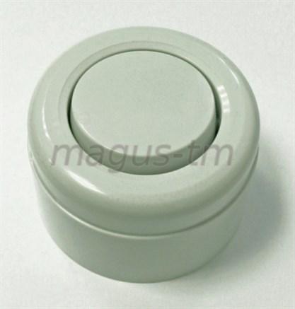 Выключатель ретро пластиковый Серый 1-клавишный