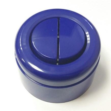 Выключатель ретро пластиковый 2-х клавишный Синий
