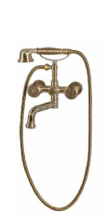 Смеситель для ванной с душем бронза 10119P