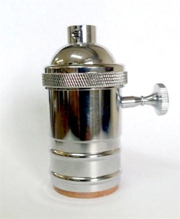 Ретро патрон c выключателем Хром
