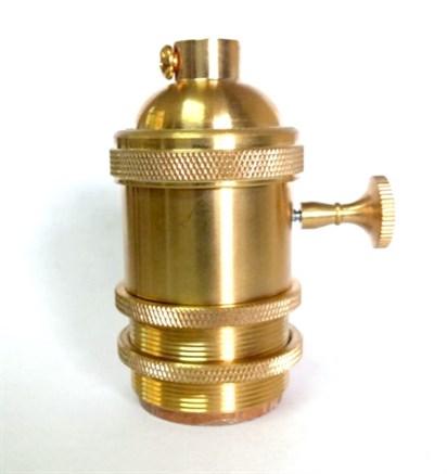 Ретро патрон c выключателем Золото