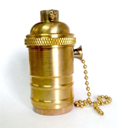 Ретро патрон c выключателем цепочкой Золото