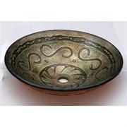 Стеклянная раковина Bronze de Luxe 12019