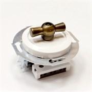 Выключатель 1 кл., проходной Vintage 880804-2 белый/бронза