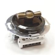 Выключатель Vintage 880705-2 черный/бронза