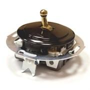 Выключатель тумблерный Vintage 880805-1 , черный/бронза