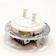Выключатель 2кл, тумблерный Vintage 882304-3, белый/белый