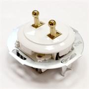 Выключатель 2кл, тумблерный Vintage 882304-1, белый/золото