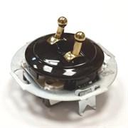 Выключатель 2кл, тумблерный Vintage 882304-1, Черный/Золото
