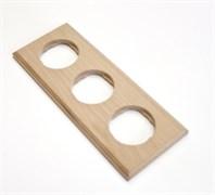 Рамка 3-постовая, прямоугольная, бук натуральный Vintage 1М-БН23