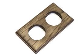 Рамка 2-постовая, прямоугольная, дуб с темной патиной, Vintage 1М-Д2