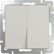 Выключатель двухклавишный (слоновая кость) WL03-SW-2G-ivory