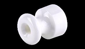 WL18-17-01/ Изолятор 10 шт. (белый) Ретро