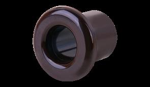 WL18-18-01/ Втулка пластиковая для вывода кабеля из стены 2 шт. (коричневый) Ретро