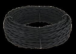 Ретро кабель витой  3х1,5  (черный)