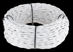 Ретро кабель витой  3х2,5  (белый)
