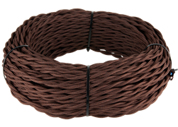 Ретро кабель витой  3х2,5 (коричневый)