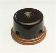 Коробка распределительная малая Interior Elc. на подложке (коричневая)