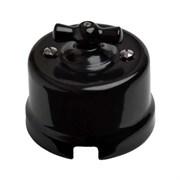 Выключатель ретро пластиковый Черный, Bironi B1-201-23