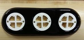 Керамическая накладка на бревно 3х-местная, универсальная, коричневая