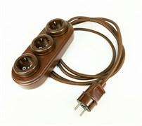 """Электрический удлинитель ретро """"WOOden"""" коричневый"""