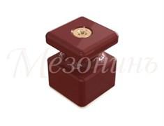 Изолятор с саморезом фарфоровый квадратный Коричневый Мезонин GE80027-04