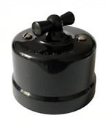 Выключатель пластиковый ретро Черный, KERUDA KBSW/1-05