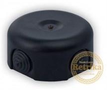Распаячная коробка Матовая Черная D-90 Retrika RR-09009
