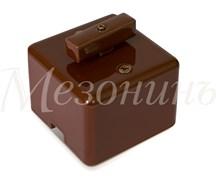 Выключатель ретро фарфоровый квадратный коричневый Мезонин GE80404-04