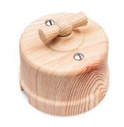 Выключатель ретро пластиковый, Карельская сосна, Bironi B1-201-13
