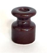 Ретро изолятор керамический, Коричневый