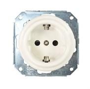 Механизм розетки, керамика, Colony с заземл. контактом, Retrika RSV-80001
