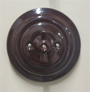 Выключатель+рамка, керамика, Коричневый, Colony, Retrika RV-SW-12+