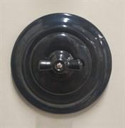 Выключатель черный+рамка, керамика, Colony, Retrika RV-SW-18+