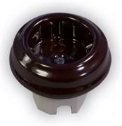 Механизм розетки ретро, керамика, Мрамор, Retrika Ideal RS1-80002