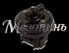 Выключатель Черный без подъемной рамки Мезонин  GE70401-05К