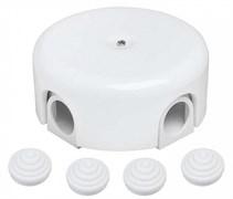 Распределительная ретро коробка пластиковая 78-110 мм, Белая, Bironi B1-522-21