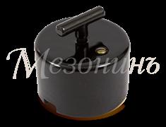 Выключатель фарфоровый ретро CILINDRO Черный Мезонин GE90401-05