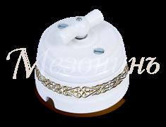 Выключатель керамический ретро Орнамент Медео Золотой Мезонин GE70401-79