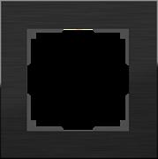Рамка на 1 пост (черный алюминий) WL11-Frame-01