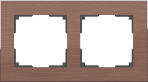 Рамка на 2 поста (коричневый алюминий) WL11-Frame-02