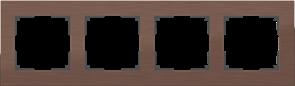 Рамка на 4 поста (коричневый алюминий) WL11-Frame-04