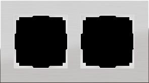 Рамка на 2 поста (алюминий) WL11-Frame-02