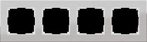 Рамка на 4 поста (алюминий) WL11-Frame-04