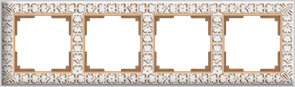 Рамка на 4 поста (белое золото) WL07-Frame-04