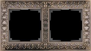 Рамка на 2 поста  (бронза) WL07-Frame-02