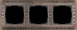 Рамка на 3 поста  (бронза) WL07-Frame-03