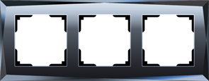 Рамка на 3 поста  (черный) WL08-Frame-03