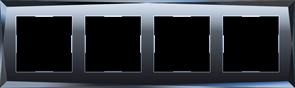 Рамка на 4 поста  (черный) WL08-Frame-04